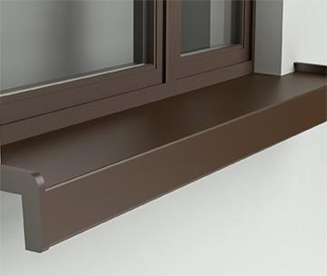 aluminiowy parapet zewnętrzny podoknem